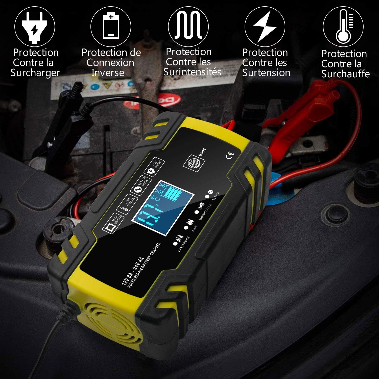 Chargeur de Batterie Intelligent 12V/24V 8A